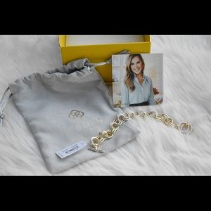 NWT XS gold double link bracelet Kendra Scott